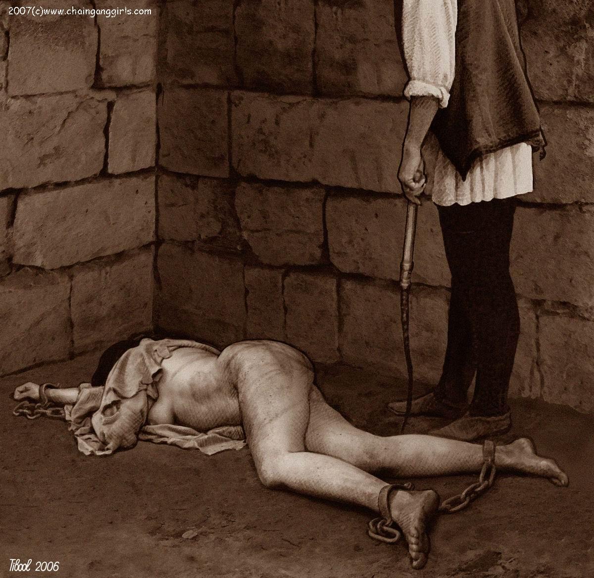 For Naked slave girl chain gang tell more