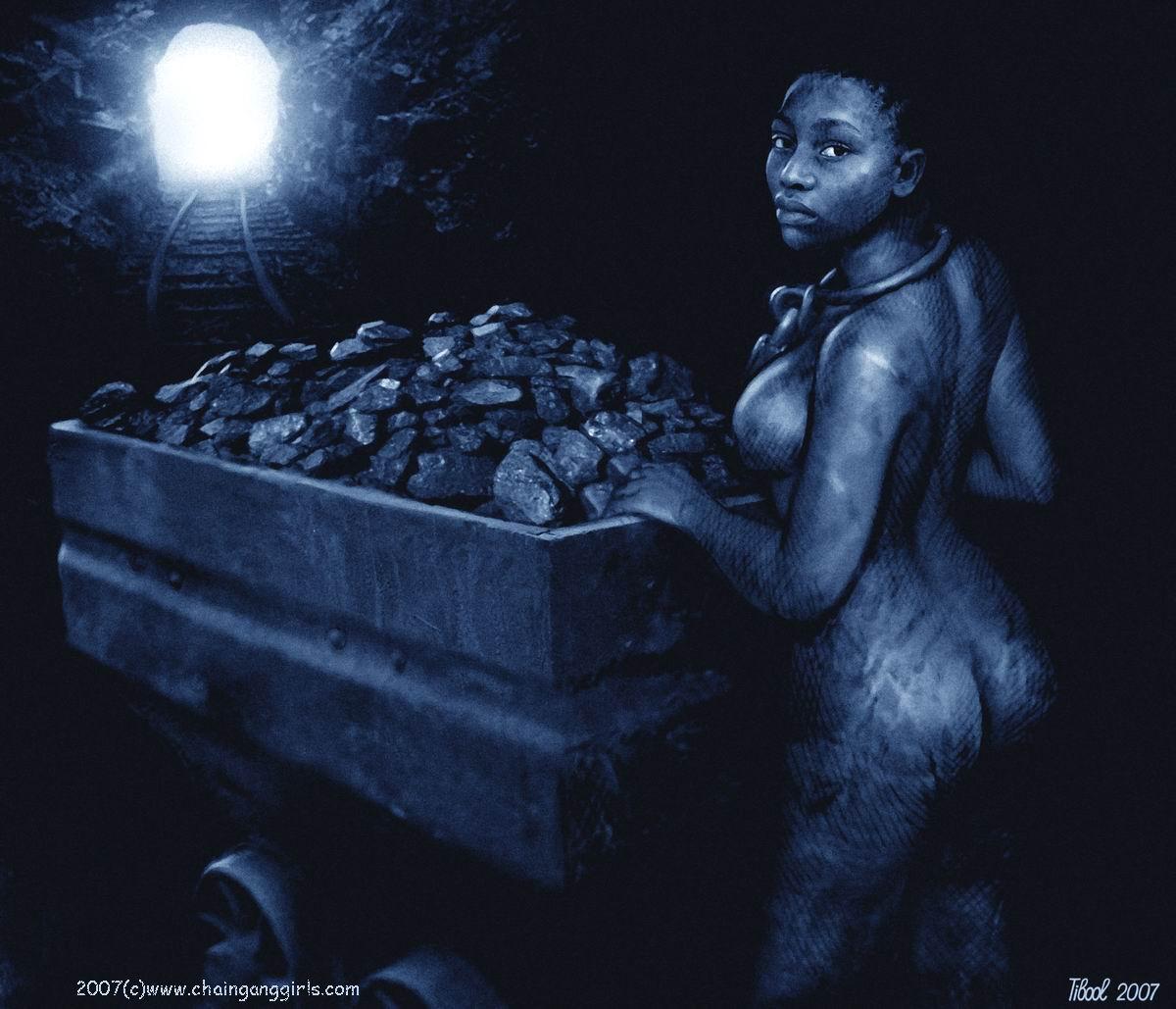 Remarkable, Naked slave girl chain gang